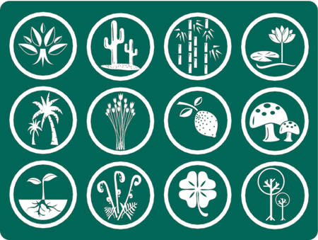 nursery room: Icons - botanic garden