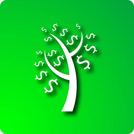 mortgage rates: Money tree Illustration