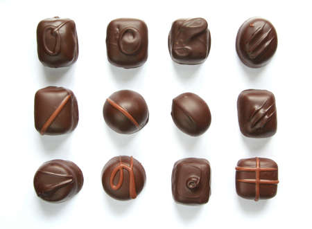 enticement: Assorted chocolates Stock Photo