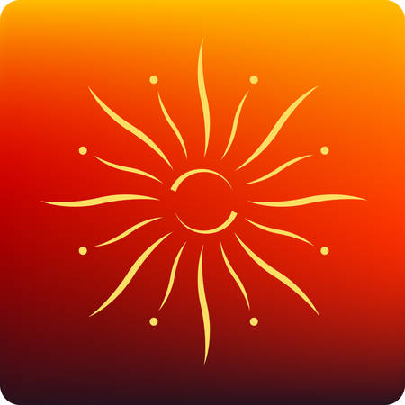 aura sun: Sun Illustration