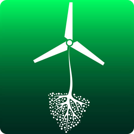 windfarm: Renewable resource Illustration