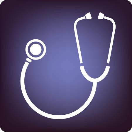 auscultate: Stethoscope Illustration
