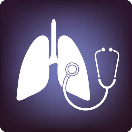 asthma: H�ren Sie sich die Lungen Illustration