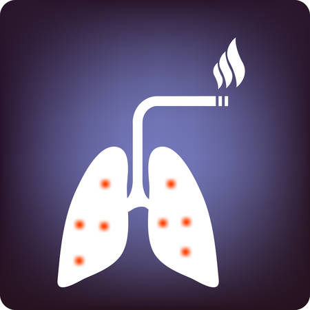 Smokers lung Vector