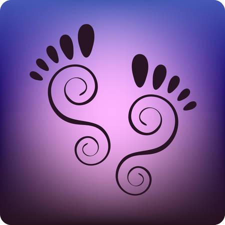 footprints Stock Vector - 2676063