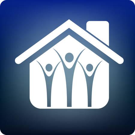 relative: family home Illustration