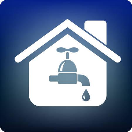 drink tools: water supply Illustration