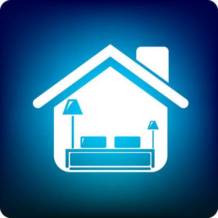 bunk bed: home bedroom Illustration