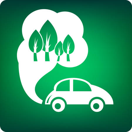 environmental car Ilustrace