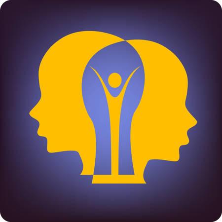 eq: cerebro de personas  Vectores