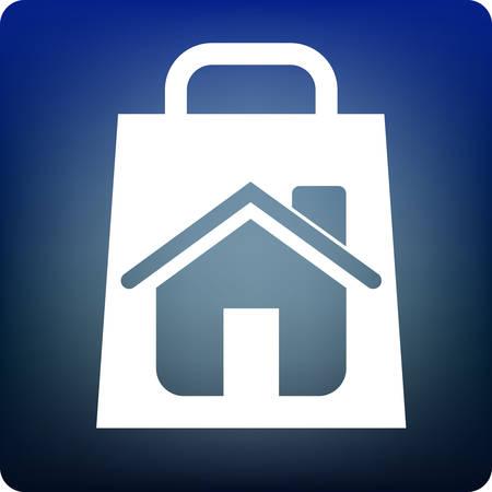 home shopping Stock Vector - 3311983
