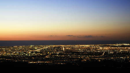 From Mount Lofty... Adelaide glows in twilight.