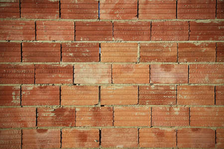 Austral series, red brick wall with horizontal lines in between photo