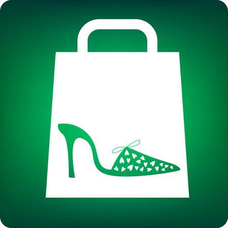 shoe shopping Stock Vector - 6296343