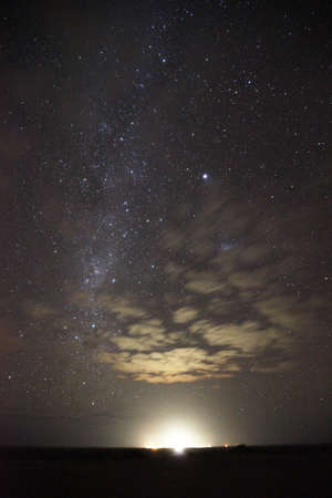 Night sky brightened up in Exmouth, Western Australia. High ISO hence grainy image to capture the Milky Way.