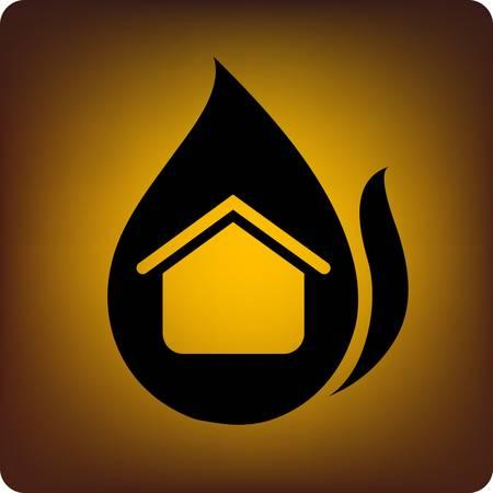 catastrophe: Assurance-concept - une maison �tant brul�e le feu.
