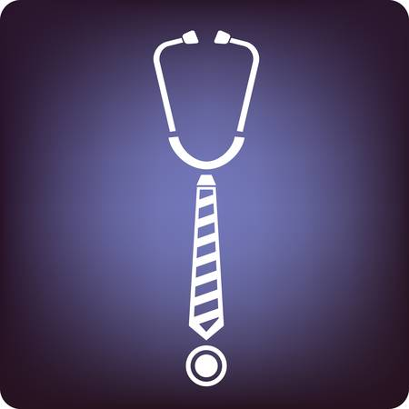 administration: Stethoscope with a business tie in the middle