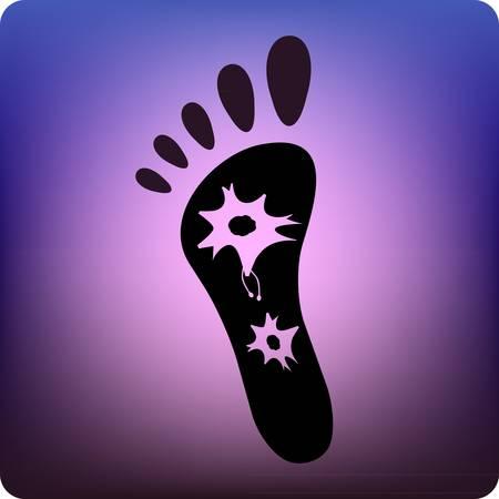dolore ai piedi: Il dolore neuropatico Vettoriali