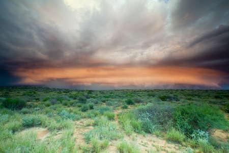 western australia: A big supercell storm in Western Australia. Stock Photo