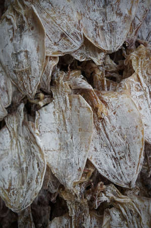Dried cuttlefish for sale in a Bangkok Market. photo