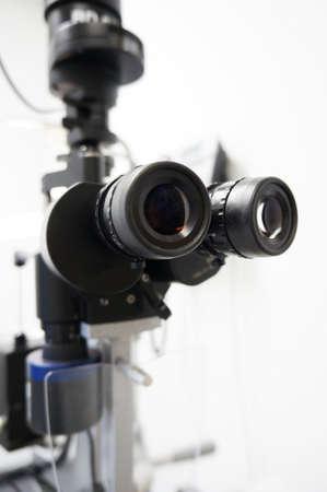 slit: Detalle y alta imagen clave de una l�mpara de hendidura se utiliza para examen de la vista.
