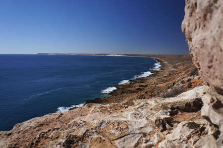 The rugged outback landscape of the Quobba Coast, Western Australia