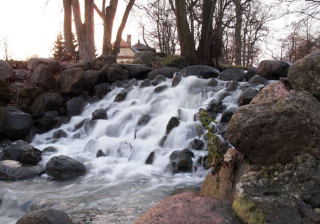 Waterfall in the city