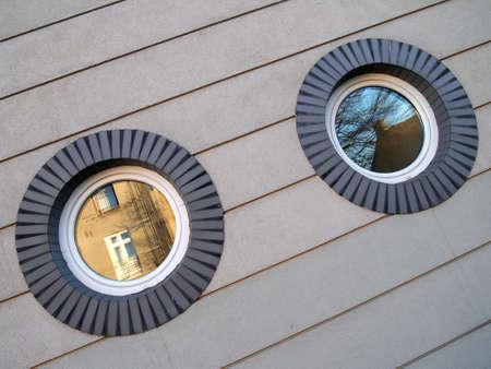 Beautiful Window reflections Stock Photo