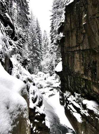 Mountain gorge cut jet photo
