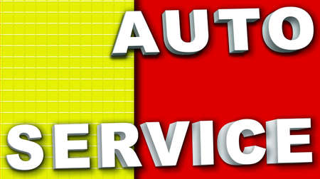 The formula for the auto service business card Stock Photo