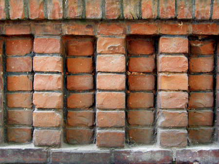 Brick castle wall Stock Photo