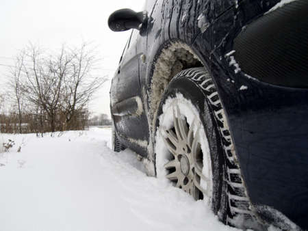 Car in snow Stock Photo - 17630781