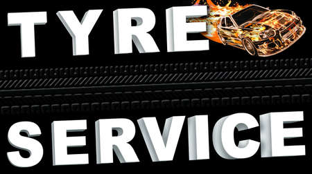 The formula for the auto tire service business card