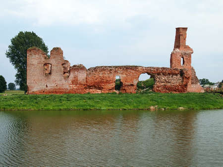 Old abandoned castle without property Stock Photo