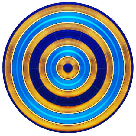 Colorful circle stripes parallel lines and simple oral