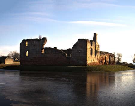 Castle ruin under the sun