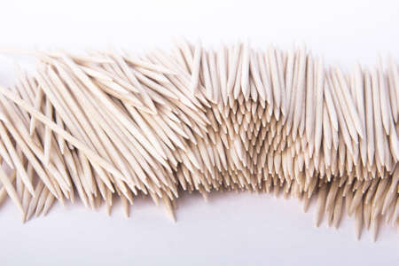 Toothpicks on a white background Stock Photo