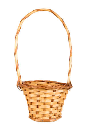 empty basket isolated on white background photo