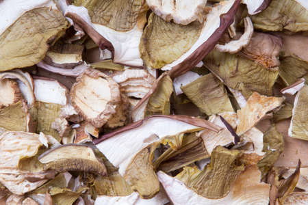 porcini: dried porcini mushrooms Stock Photo