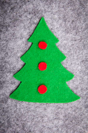 Christmas tree with felt decorations photo