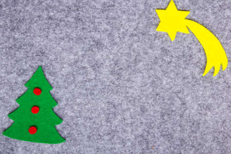 Christmas background with felt decorations photo