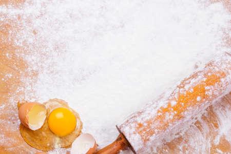 rolling pin: baking background Stock Photo