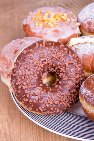 donuts with chocolate photo