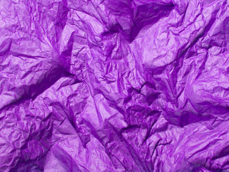 violet crumpled tissue paper for background