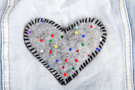 Heart shaped pincushion photo
