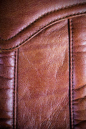 Brown sewed leather texture