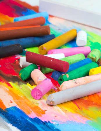 oil pastels: oil pastels