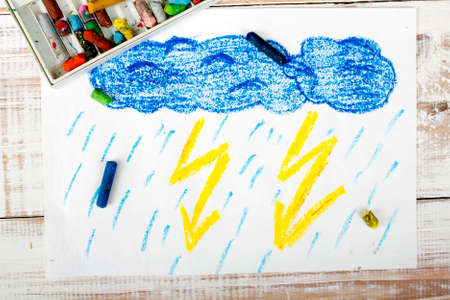thunderstorm: colorful drawing: thunderstorm