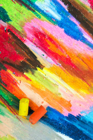oil pastels: oil pastels background Stock Photo