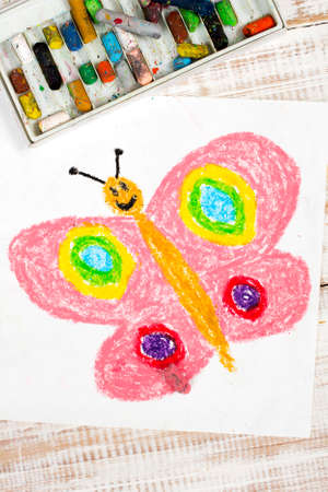 butterfly: colorful drawing: happy butterfly